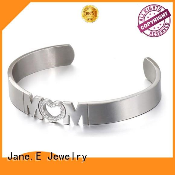 JaneE multi colors mens stainless steel bangle hot selling supplier