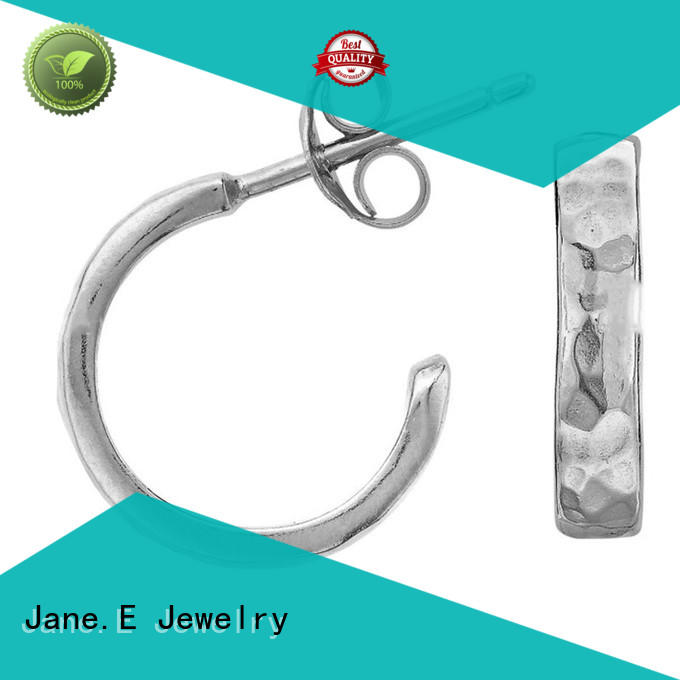 JaneE piercing titanium jewelry earrings classic style for gift