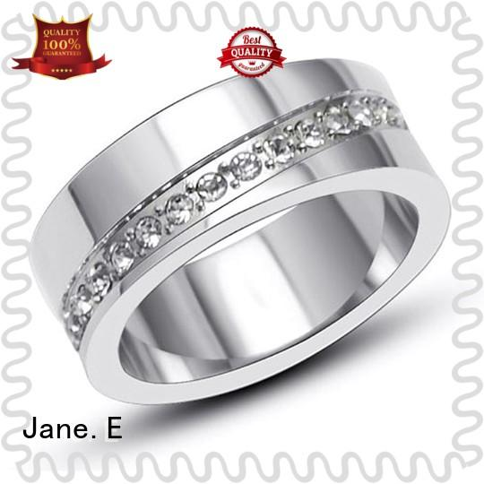 square edges stainless steel mens wedding bands plating comfortable for men