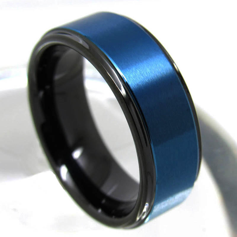 JaneE multi colors tungsten carbide rings matt for wedding-2
