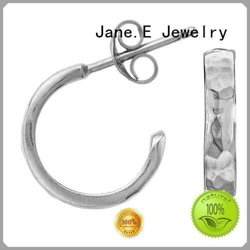 JaneE custom made surgical grade titanium earrings IP gold for girl