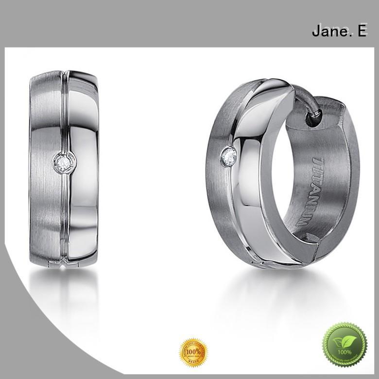 JaneE rainbow surgical grade titanium earrings IP gold for women