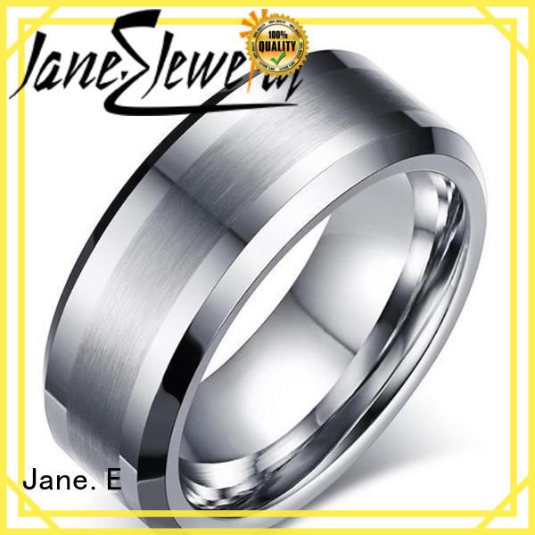 JaneE multi colors custom tungsten ring matt for gift