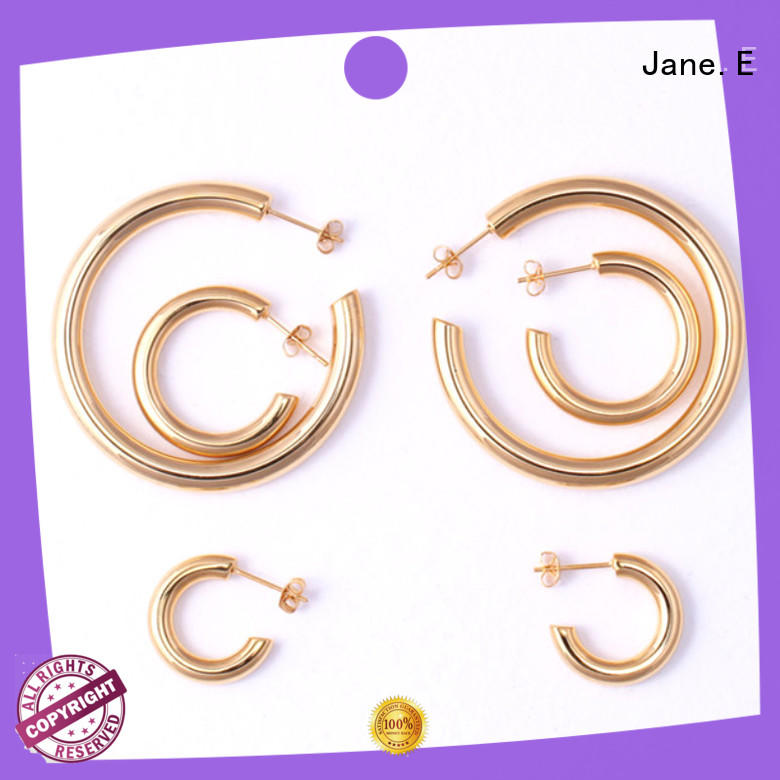 round surgical steel small hoop earrings ODM for decoration JaneE
