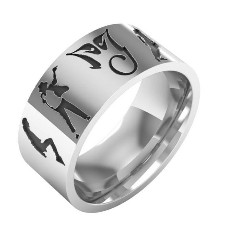 factory direct stainless steel wedding rings inlay fashion design for weddings-3