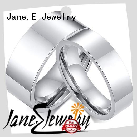 JaneE for wood crafts titanium ring simple for wedding