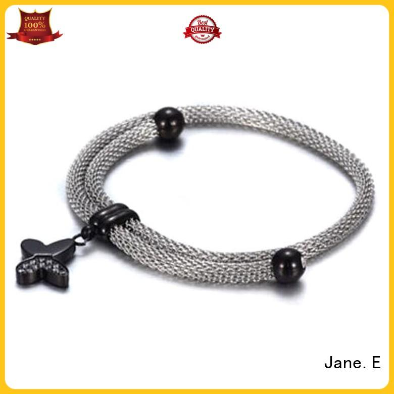 JaneE gold plated women's stainless steel bracelets wholesale for women
