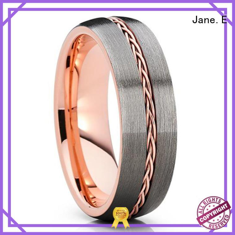 JaneE two tones 6mm tungsten ring matt for gift
