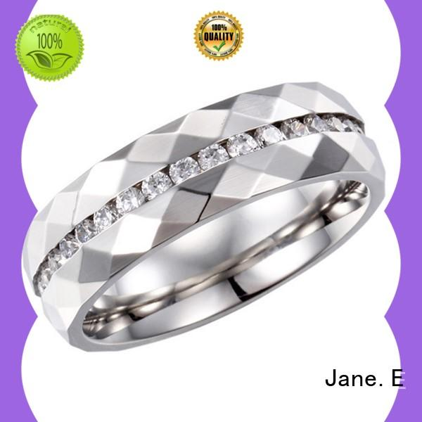 JaneE plated stainless steel rose gold ring top quality for men