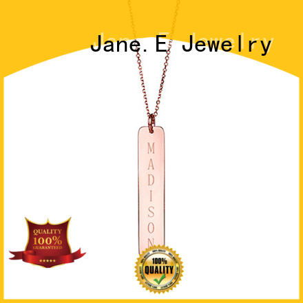 JaneE polished surface stainless steel necklace factory direct for decoration