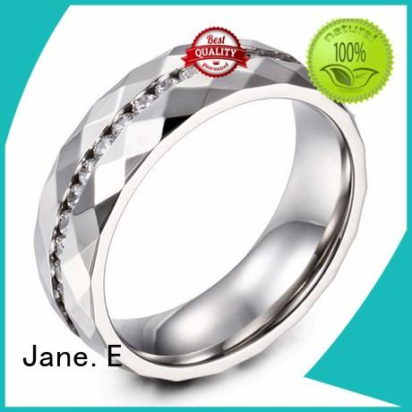 JaneE blue steel wedding rings multi colors for men