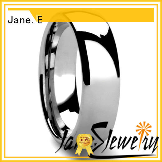 JaneE multi colors tungsten mens bands two tones for gift