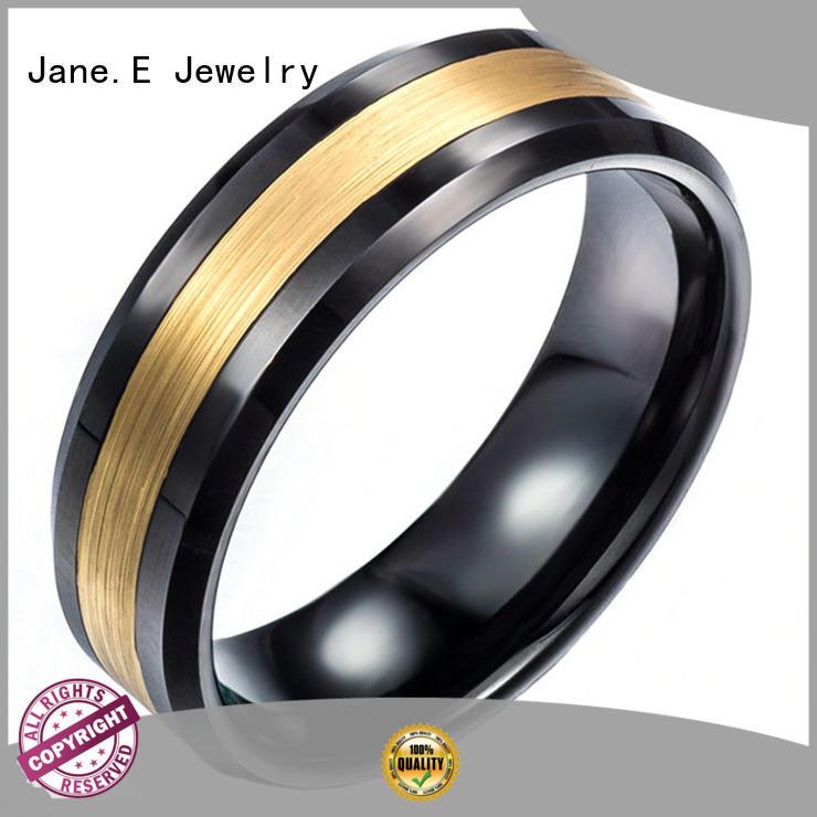 unique design rose gold tungsten mens wedding band damascus texture matt for wedding