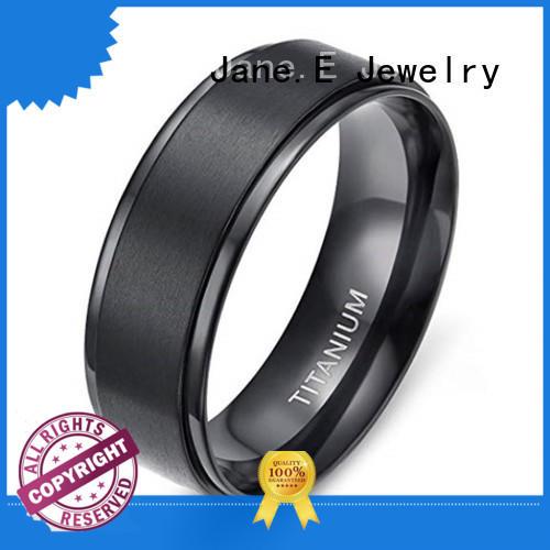 14k yellow gold titanium ring core modern design for anniversary