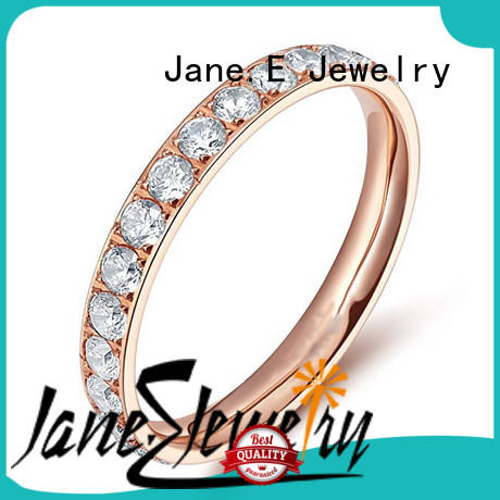 JaneE 316l stainless steel titanium wedding bands simple for engagement