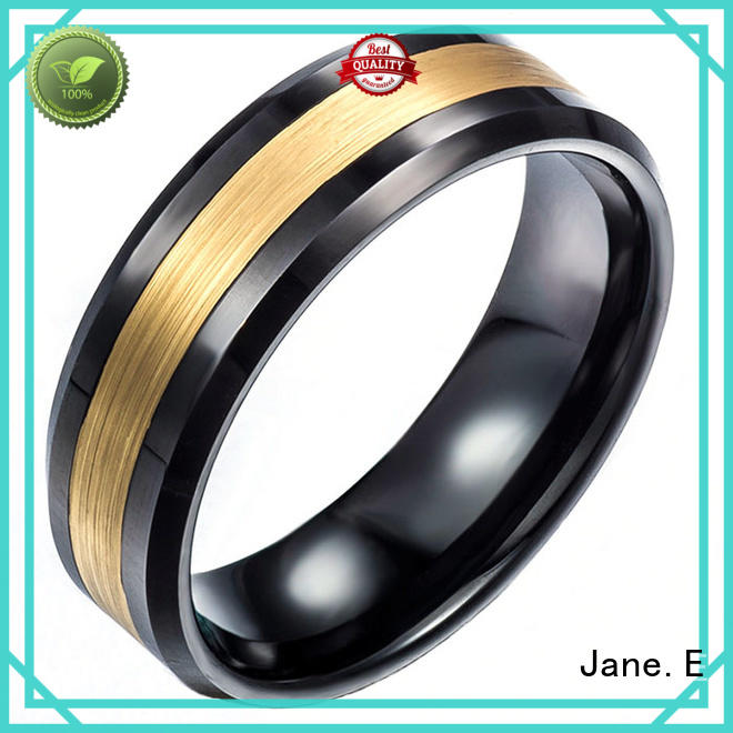 JaneE traditional tungsten comfort fit wedding bands meteorite for gift
