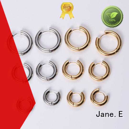round stainless steel earrings rose gold ODM for decoration