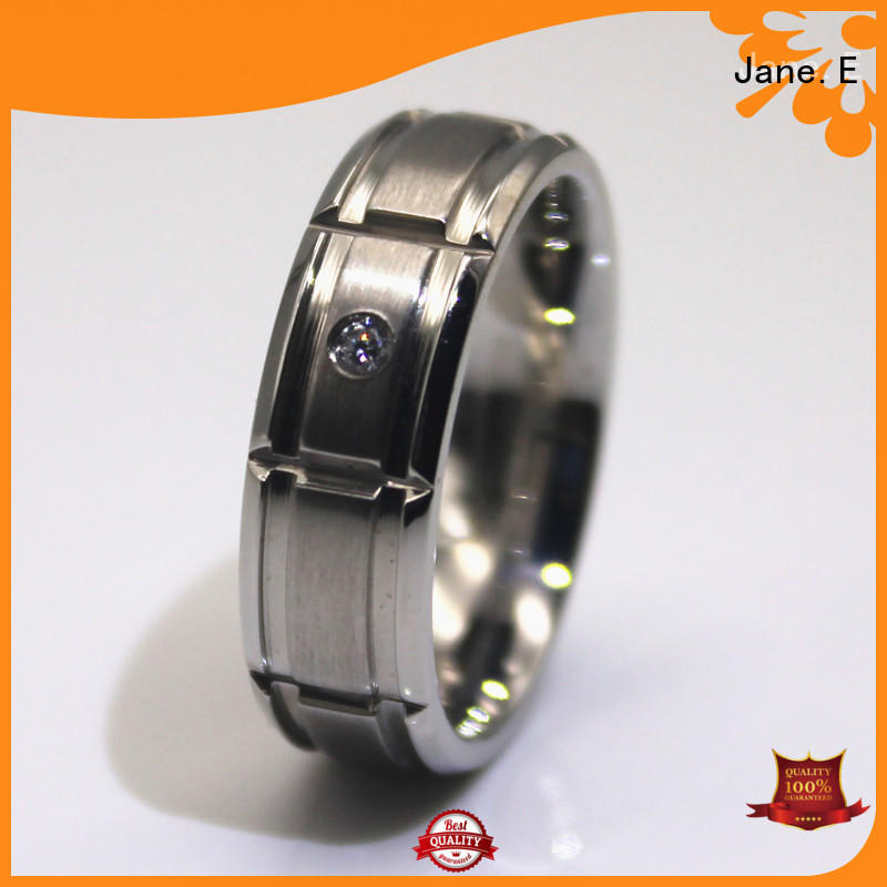 shiny black stainless steel ring 18k gold fashion design for decoration