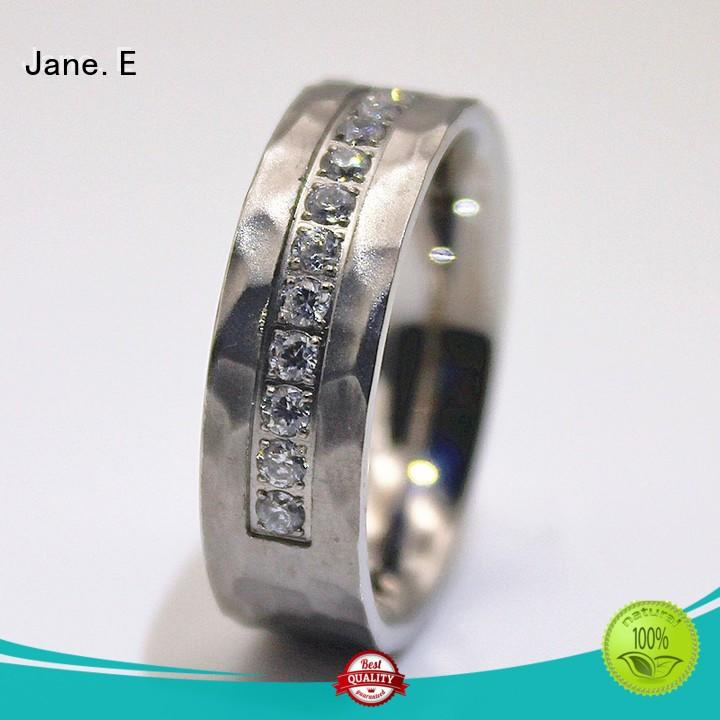 JaneE 316l steel custom stainless steel rings fashion design for decoration