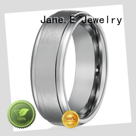 JaneE red opal tungsten rings for men exquisite for gift