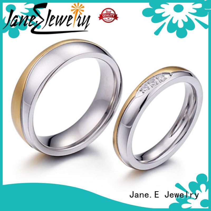 316l steel custom engraved stainless steel rings fashion design for men JaneE
