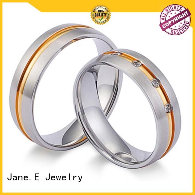 JaneE factory direct stainless steel engagement rings top quality for weddings