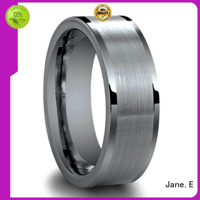 meteorite tungsten wedding band two tones for wedding JaneE