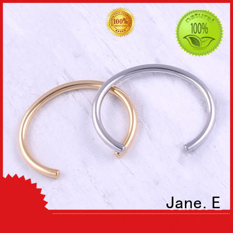 JaneE fabric pads stainless steel bangles wholesale exquisite supplier