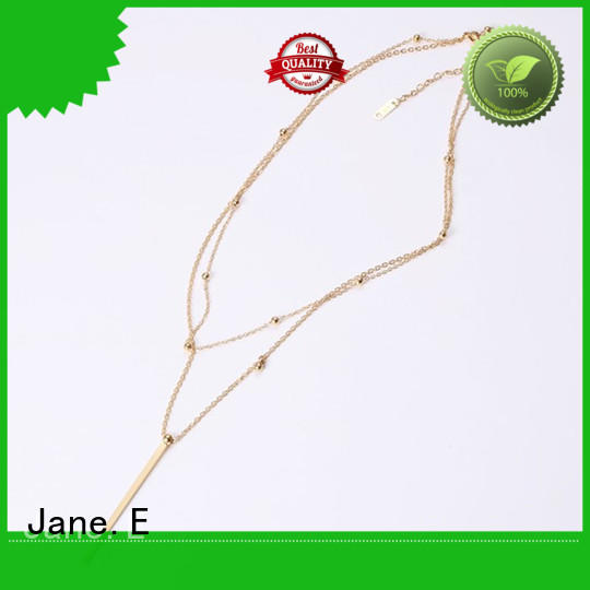 JaneE engraved mens stainless steel necklace factory direct for gift