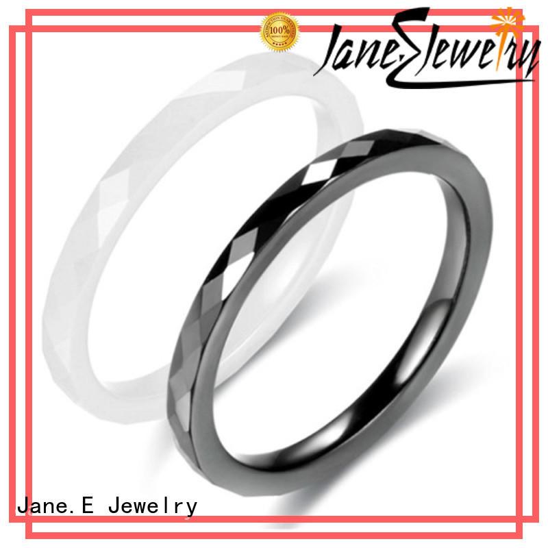 JaneE fashion ceramic ring for men 5mm supplier
