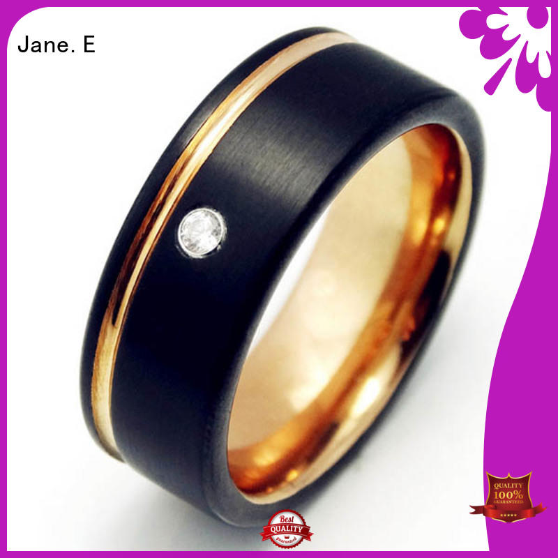 unique design tungsten engagement rings for her inlay brushed matt for gift