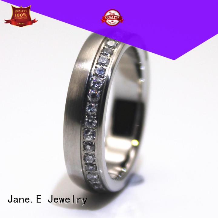 women's stainless steel wedding rings inlay for weddings JaneE