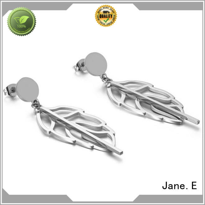 JaneE rose gold pearl earrings for women comfortable for women