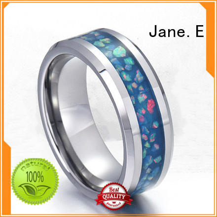 JaneE 316l steel plain stainless steel ring top quality for decoration
