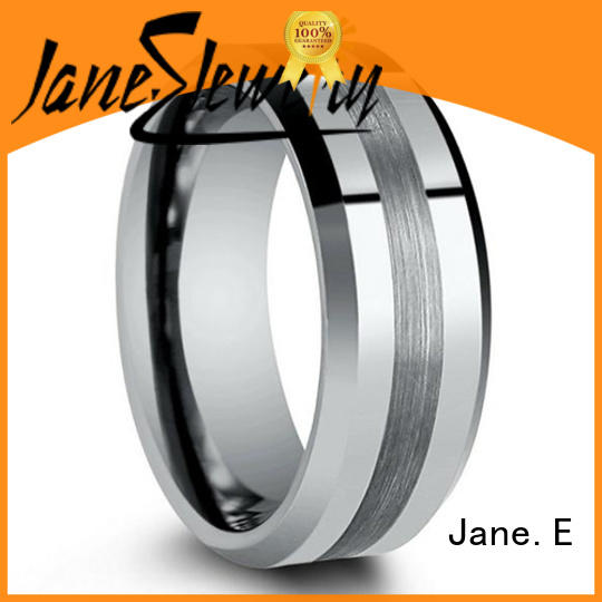 JaneE traditional 6mm tungsten ring matt for wedding