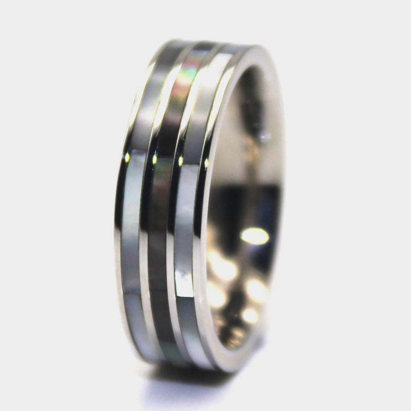 factory direct mens black stainless steel wedding bands multi colors for decoration JaneE-2