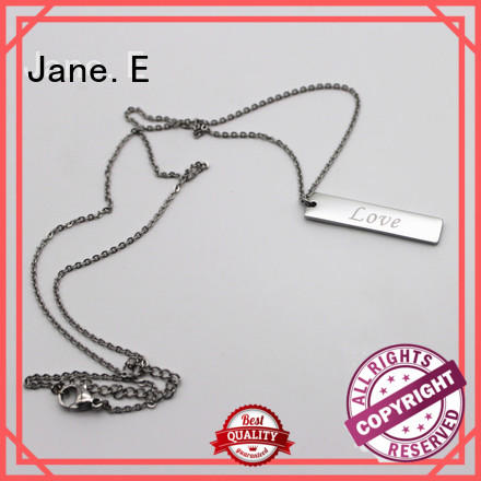 JaneE fragrant stainless steel personalized necklace different dimension for decoration