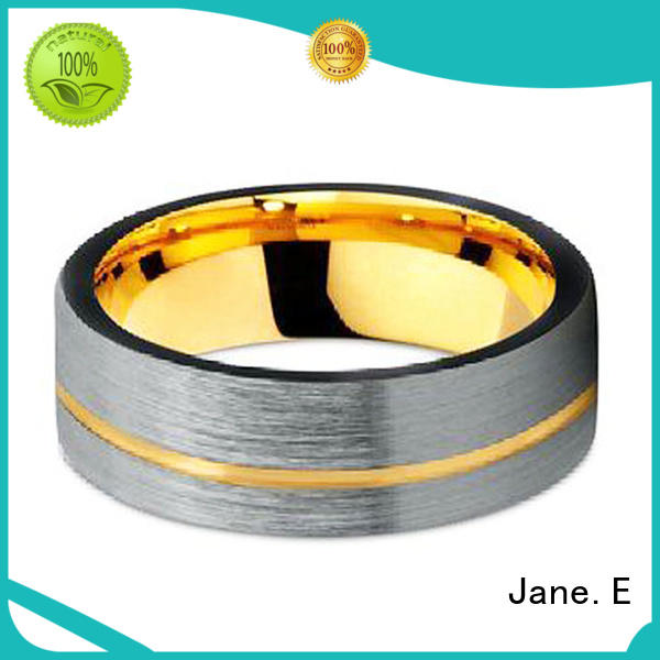 multi colors mens gold tungsten wedding bands meteorite engraved for engagement