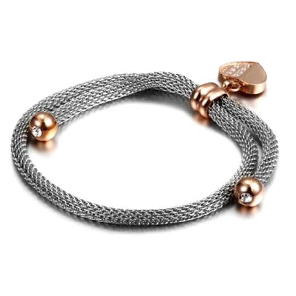 JaneE gold plated women's stainless steel bracelets wholesale for women-3