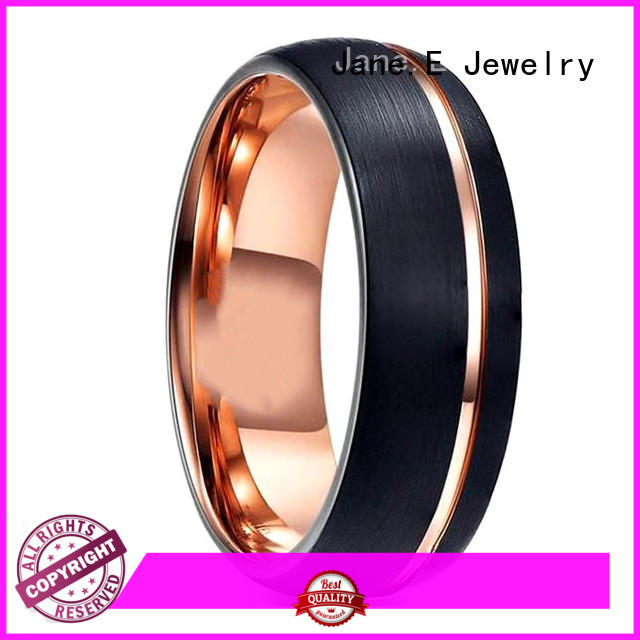 multi colors engraved tungsten rings koa wood engraved for engagement
