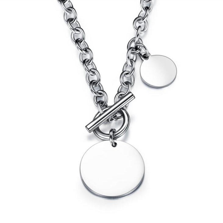 JaneE polished surface stainless necklace different dimension manufacturer-1