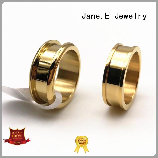 JaneE inlay steel wedding rings multi colors for weddings