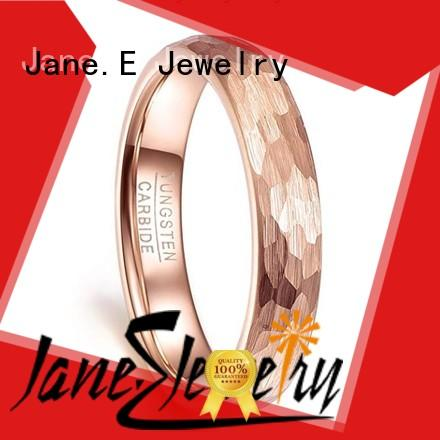 JaneE multi colors tungsten band exquisite for wedding
