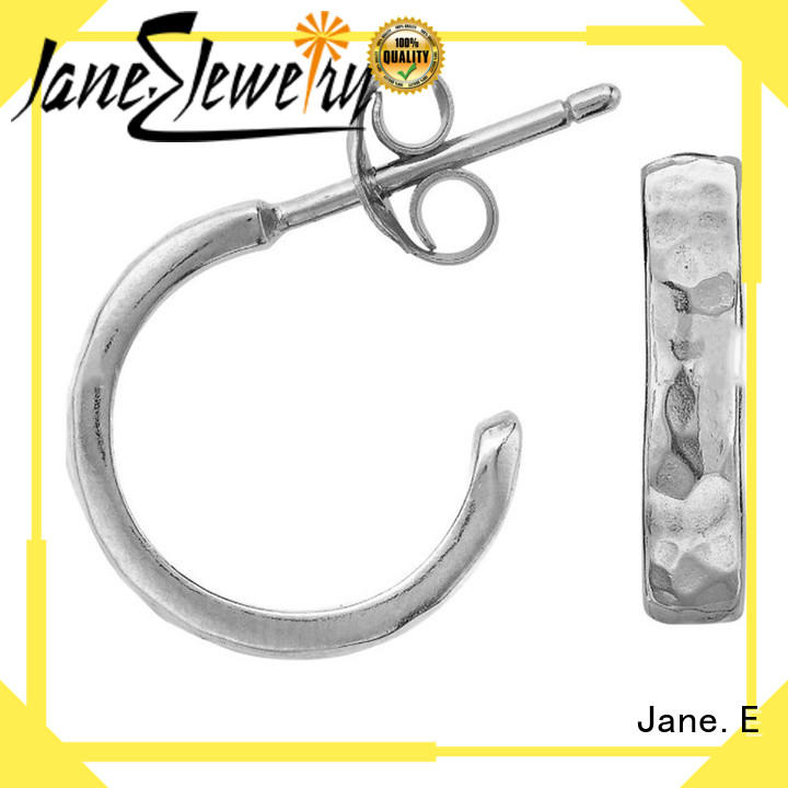 JaneE exquisite titanium stud earrings IP gold for gift