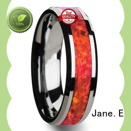 JaneE traditional tungsten carbide ring exquisite for wedding