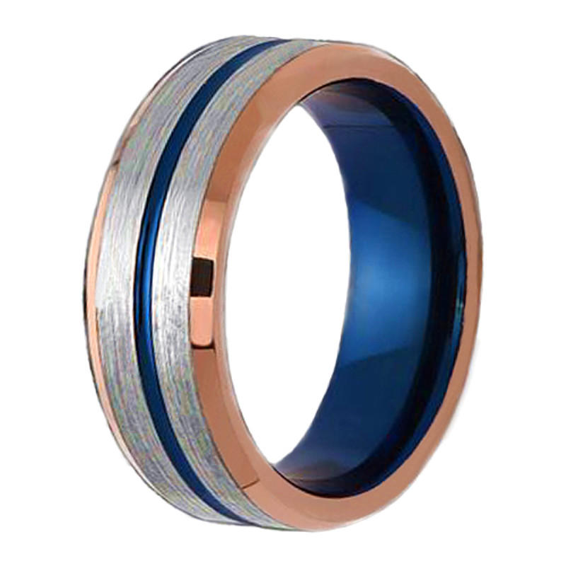 traditional blue tungsten wedding bands red opal exquisite for engagement-2