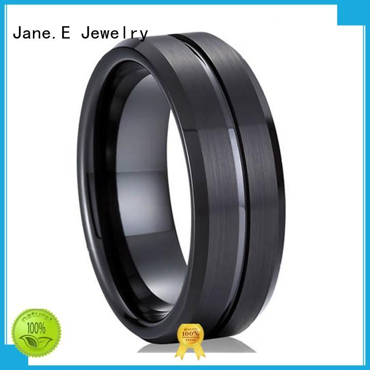 two tones tungsten 6mm ring red opal for wedding JaneE