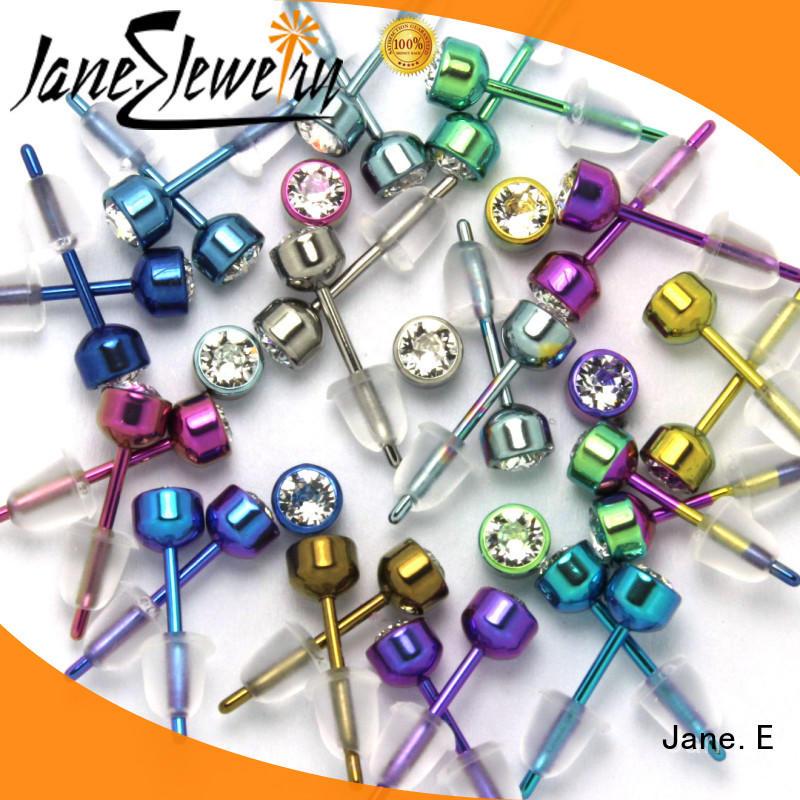 zirconia body simple earrings classic style for girl JaneE