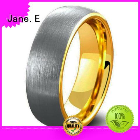 shiny polished wood inlay wedding band damascus texture matt for gift