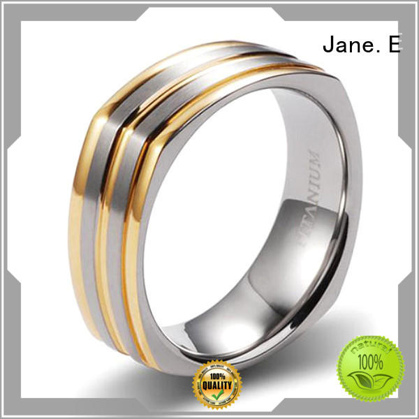 JaneE for wood crafts brushed titanium wedding ring factory direct for engagement